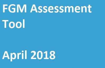 FGM Assessment Tool – April 2018